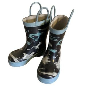 Hatley Fish Print Rubber Boots - Toddler's Size 5